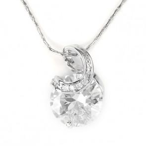 Swarovski kristályos nyaklánc kerek átlátszó kővel