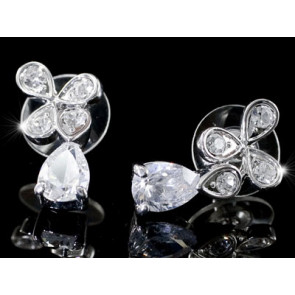 Swarovski kristályos három szirmúvirág fülbevaló