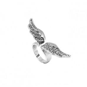 Swarovski kristályos, szárnyas gyűrű