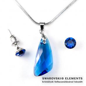 """Swarovski® kristályos szett """"Sagittarius"""" - Szárny 23 mm, Capri Blue"""