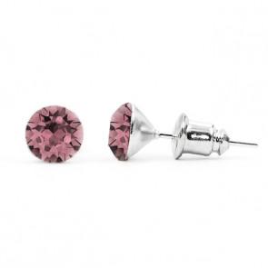 Jazzy rózsaszín Swarovski® kristályos fülbevaló - Antique Pink