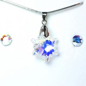 Swarovski kristályos ékszerszett - Havasi gyopár Crystal AB