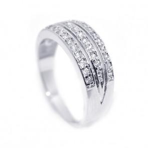 Swarovski kristályos egyszerű gyűrű