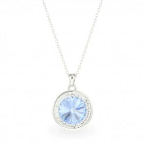 Swarovski® kristályos nemesacél nyaklánc - ORBIT JEANS BLUE