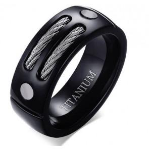 Fekete színű gyűrű