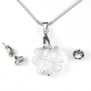 Swarovski kristályos ékszerszett - Lóhere 19 mm, Crystal