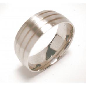 USA: 14 méretű nemesacél gyűrű ékszer