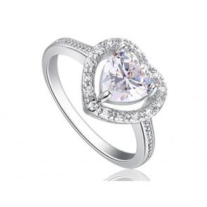 Szív alakú szintetikus gyémánt gyűrű