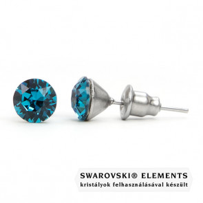 Jazzy kék Swarovski® kristályos fülbevaló - Indicolite