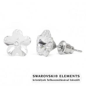 Swarovski kristályos fülbevaló - Virág Crystal