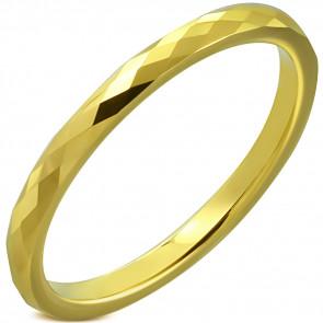 Arany színű, mintás nemesacél karikagyűrű