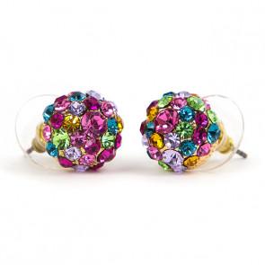 Ingo Swarovski kristályos fülbevaló -Szines félgömb