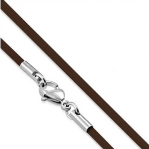 Barna színű, vékony kaucsuk nyaklánc medálokhoz