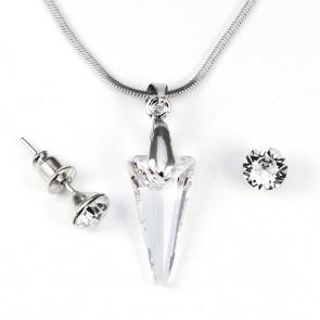 Swarovski kristályos szett - Piramid 18 mm, Crystal
