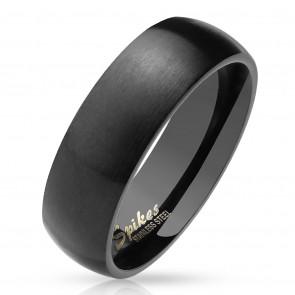 Fekete színű, matt felületű nemesacél gyűrű