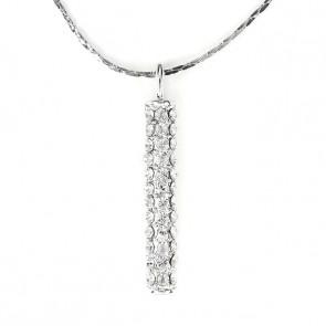 Swarovski kristályos nyaklánc hasáb alakú medállal