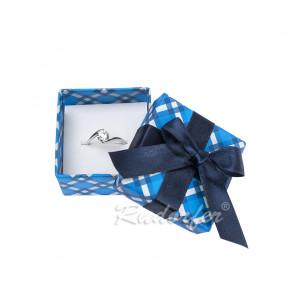 Kék színű papír ékszertartó doboz