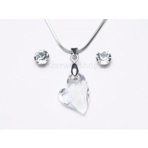 Swarovski kristályos ékszerszett - Ferde szív Crystal