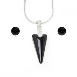 Swarovski® kristályos szett - Piramid 18 mm, Jet