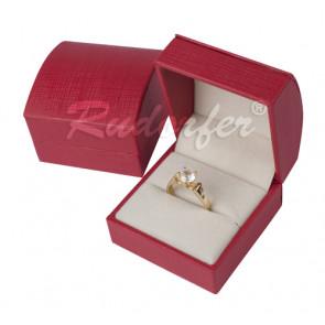 Piros színű elegáns díszdoboz (gyűrű, fülbevaló)