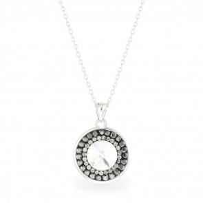 Swarovski kristályos ezüst nyaklánc