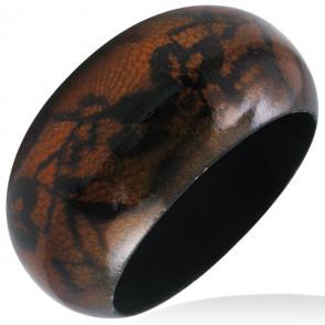 Csipke mintás, divatos fa karkötő