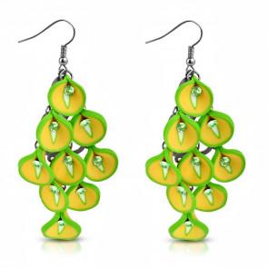 Virágcsokor fülbevaló - Limonádé