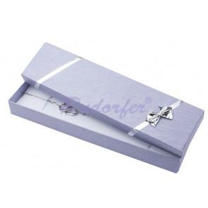 Lila színű, masnis ékszertartó doboz