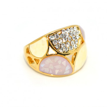 Swarovski kristályos dizájner gyűrű, arany színű