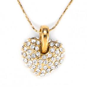 Swarovski kristályos nyaklánc Szives apró kristályokkal díszített medállal