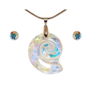 Swarovski kristályos ékszer szett - csigaház - Crystal