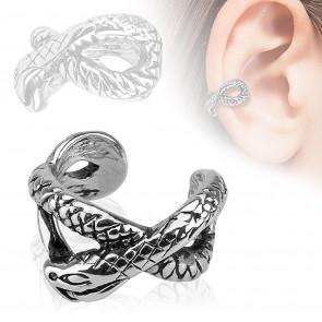 Kígyó mintás fülékszer