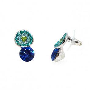 Ruby Swarovski kristályos fülbevaló - Kék