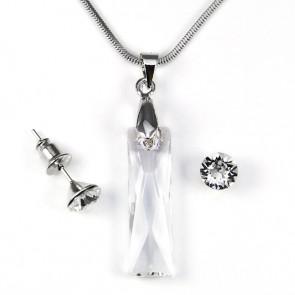 Swarovski® kristályos ékszerszett - Hasáb 25 mm, Crystal