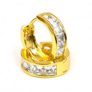 Swarovski kristályos arany szinű karika fülbevaló