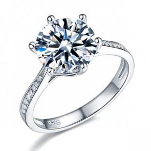 3 karátos ezüst gyémánt gyűrű