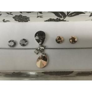 RosieNight Swarovski® kristályos ékszerszett  - Pear 12 mm + díszdoboz