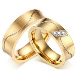 Arany színű nemesacél gyűrű