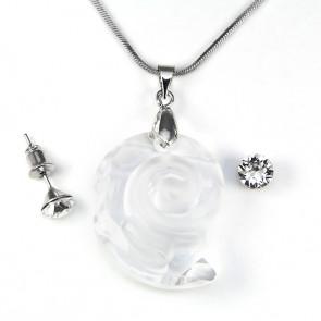 Swarovski kristályos ékszerszett - Csiga 28 mm,  Crystal