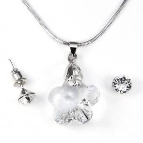 Swarovski kristályos ékszerszett - Virág 14 mm, Crystal