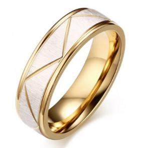 Barázdált nemesacél gyűrű ékszer