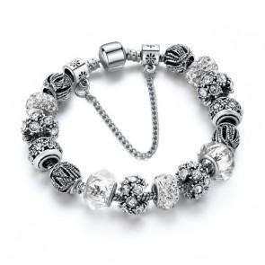 Pandora stílusú kristályos karkötő