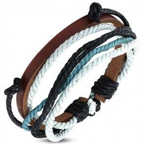 Bőrből készült színes karkötő