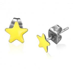 Csillag alakú nemesacél fülbevaló ékszer