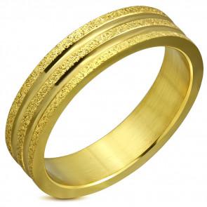 Arany színű, két tónusú nemesacél gyűrű