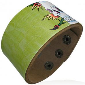 Koponya mintás bőr karkötő