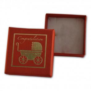 Babakocsi mintás ékszer tartó doboz (medál, fülbevaló, nyaklánc, gyűrű)
