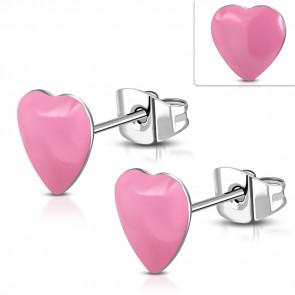 Szív alakú nemesacél pont fülbevaló