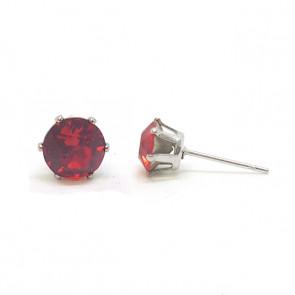 Jazzy piros Swarovski® kristályos fülbevaló - Kerek Karmos Light Siam