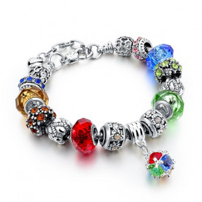 Pandora stílusú kristályos karkötő - Mix (Karkötők)